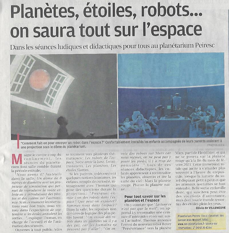 La Provence du 31 juillet 2020